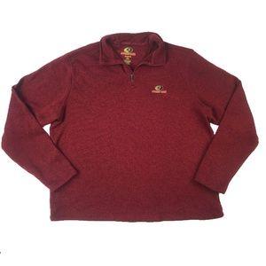 Mossy Oak Dark Red Quarter Zip Better Sweater 2XL